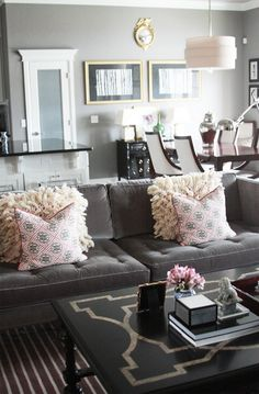 gold-walls-grey-couch-living-room-ideas