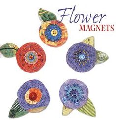 Paper Flower Magnets (original source unknown)