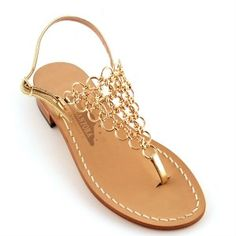 Legendary Capri's handmade sandals model K created for Jackie Kennedy in famous boutique Canfora - Capri