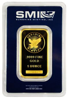 Special Price! Sunshine Minting 1 Troy Oz. .9999 Gold Bar *MADE IN USA* SKU26817