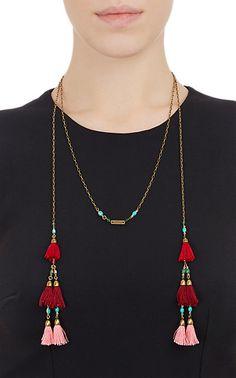 Isabel Marant Jade & Howlite Tassel Wrap Necklace -  - Barneys.com