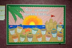 This was an end of the year bulletin board (put up for the month of May and one week of June) where kids listed some of the fun activities they hoped to do over summer break.