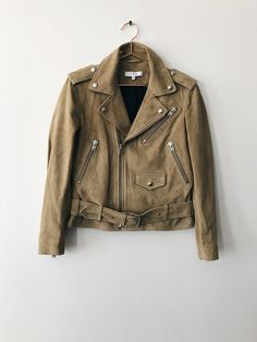 Suede Moto Jacket, Leather Jacket, Military Jacket, How To Wear, Jackets, Collection, Fashion, Studded Leather Jacket, Down Jackets