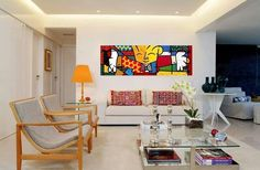 Living room & Romero Britto Art