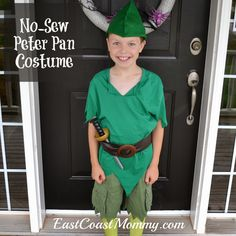 DIY Peter Pan Costume... perfect for Halloween or a great addition to a dress up bin.