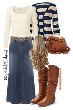 """""""Apostolic Fashions #771"""" by apostolicfashions on Polyvore cowgirl boots though"""