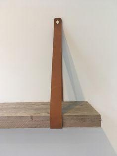 Leren Plankdrager Cognac m 1