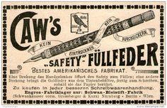 Original-Werbung/Inserat/ Anzeige 1899 - CAW'S SAFETY FÜLLFEDER - ca. 90 x 55 mm
