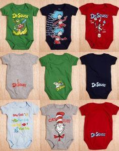 Dr. Suess baby shower ideas | Dr Seuss Onesies