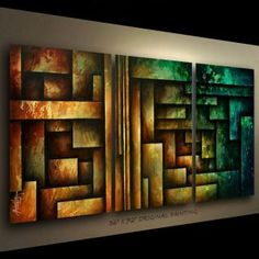 ART ABSTRACT PAINTING MODERN Contemporary DECOR Michael Lang certified