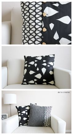 DIY: buttoned-up envelope pillow case