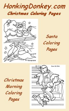 Christmas Coloring Pages for kids - An extensive collection of great Christmas coloring pages.