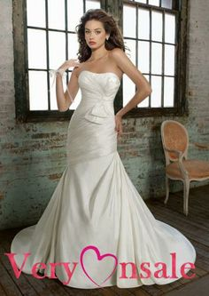 wedding dresses mermaid wedding dresses with bling wedding dresses lace 2013 spring simple strapless mermaid ruched satin bow chapel train wedding dress for brides Satin Mermaid Wedding Dress, Mori Lee Wedding Dress, Wedding Dress Train, Bridal Wedding Dresses, Mermaid Dresses, Cheap Wedding Dress, Mermaid Gown, Mermaid Sweetheart, Lace Mermaid