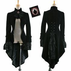 Veste gothique victorienne steampunk dandy tournure burlesque corset homme