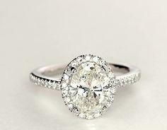 2.02 Carat Diamond Oval Halo Diamond Engagement Ring | Recently Purchased | Blue Nile