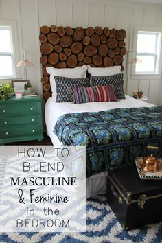 How to Blend Masculine and Feminine in the Bedroom from thewhitebuffalostylingco.com