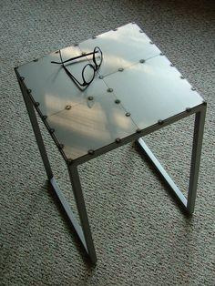 """Newton's Table"""". Minimalist/Industrial, End-Table"""
