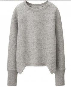 Helmut Lang Sweater for Uniqlo via Helmut Lang, Uniqlo, Fashion Details, Look Fashion, Womens Fashion, Fashion Design, Fashion Goth, Moda Chic, Lounge Wear