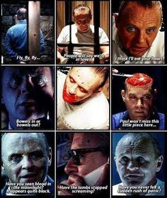 Dr Hannibal Lecter portrayed by the ever fantastic, Sir Anthony Hopkins