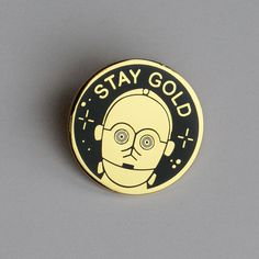 Image of C3PO Stay Gold lapel pin