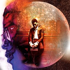 I like this picture because i know that it has deeper meaning to it. Kid Cudi Albums, Rap Albums, Kid Cudi Album Cover, Kanye Kid Cudi, Kid Cudi Tattoos, Kid Cudi Wallpaper, Kid Cudi Quotes, Video Artist, Man On The Moon