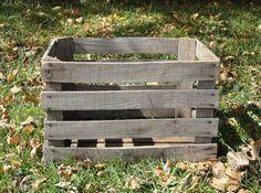 Primitive Apple Crate
