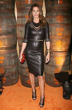 I'm obsessed with the leather dress!