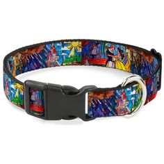 Buckle-Down Beauty and The Beast Stained Glass Scenes Plastic Clip Collar -- Check out this great product. (This is an affiliate link and I receive a commission for the sales)