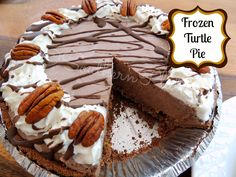 Frozen turtle pie                                         			   			IngredientsSmall box instant chocolate pudding (can use sugar free) - 4 s...