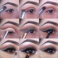 Stunning night cut crease makeup #tutorial #evatornadoblog Вечерний макияж