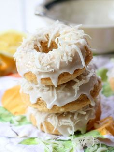 Vegan Coconut Lemon Donuts