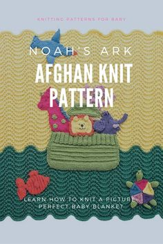 Noah's Ark Knit Afghan Pattern for Baby