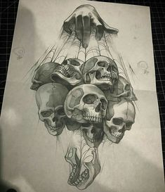 Drawing Ideas Skull Sketch Ideas For 2019 Tattoo Design Drawings, Skull Tattoo Design, Skull Tattoos, Tattoo Sketches, Body Art Tattoos, Drawing Sketches, Sleeve Tattoos, Art Drawings, Cool Skull Drawings