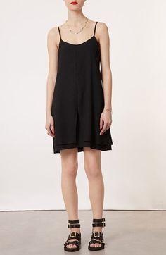 Topshop Strap Back Crepe Dress available at #Nordstrom