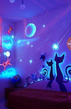 Get Inspired With Glow In The Dark Wall Paint For Your Children's Bedrooms