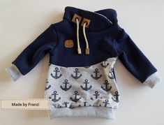 Sewing Sewing Machine Sweater Boy Hoodie Hood Cords Drawstring Snap Pap An Easy Baby Sewing Patterns, Baby Clothes Patterns, Clothing Patterns, Baby Boy Fashion, Kids Fashion, Baby Boy Outfits, Kids Outfits, Baby Pullover, Boys Sweaters