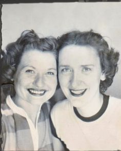 +~ Vintage Photo Booth Picture ~+  Friends forever through thick and thin!
