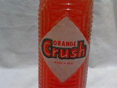Refresco Orange Crush Y Llavero Vintage Botella Antigua - $ 399.00 en Mercado Libre