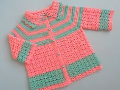 FREE CROCHET PATTERN! Lovely baby sweater coat/jacket pattern by AamraGul