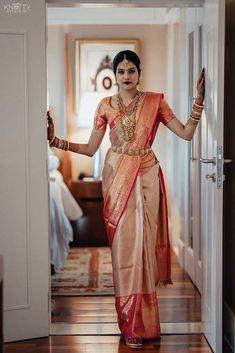 Ashrita shetty and manish pandey celebrity weddings weddingsutra Bridal Sarees South Indian, South Indian Bridal Jewellery, Indian Bridal Outfits, Indian Bridal Fashion, Indian Wedding Sarees, Bride Indian, Kerala Hindu Bride, Indian Bride Dresses, South Indian Weddings