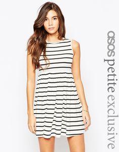 ASOS PETITE Babydoll Dress in Stripe ($46)
