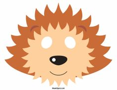 Hedgehog mask templates including a coloring page version of the mask ...