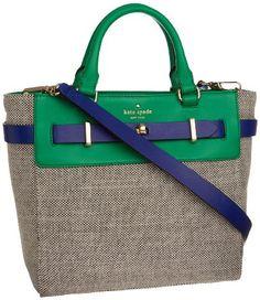 Amazon.com: Kate Spade New York Bourbon Street Fabric-Skyler Cross Body,Black/Beryl Green,One Size: Shoes