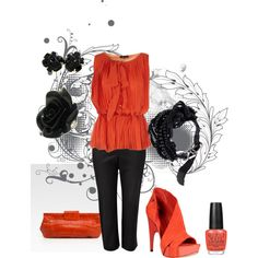 Orange, created by michelled2711 on Polyvore
