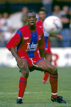Ian Wright Ian Wright, Crystal Palace Fc, Gareth Southgate, Blue Army, Soccer World, Football Pictures, Football Soccer, Arsenal, Eagles