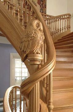 52 Ideas For Interior Stairs Design Stairways Newel Posts Grand Staircase, Staircase Design, Wood Staircase, Newel Posts, Take The Stairs, Banisters, Railings, Interior Stairs, Stairway To Heaven