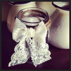 Hand made Maison Jars! Twine & Lace.