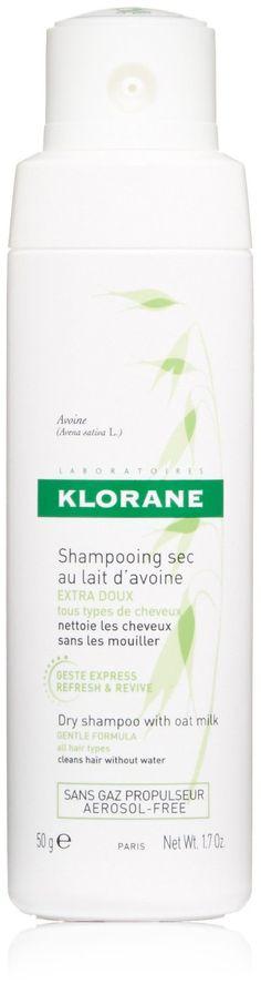 Klorane Dry Shampoo with Oat Milk, Non-Aerosol, 1.7 oz.