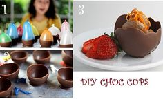 DIY Chocolate Cups Can Be A Fun Treat This Christmas - http://www.stylishboard.com/diy-chocolate-cups-can-fun-treat-christmas/