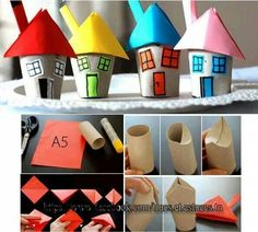 Little houses for the little ones! A creative project for you and your kids!